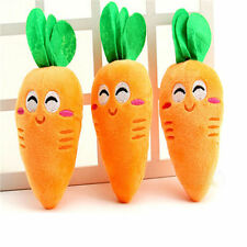 Funny Carrot Pet Dog Puppy Chew Toy Squeaker Squeaky Plush Sound Toys Safe 1pc