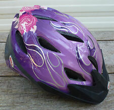 Bell Child 50-54 cm Purple w/ Roses Bicycle Helmet bike safety youth