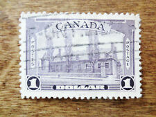 1938 Montreal Chateau de Ramezay Canada $1 Violet Postage Stamp Scott #245 Used