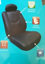 Type S Faux leather Seat Covers, 1 bucket seat cover, Black