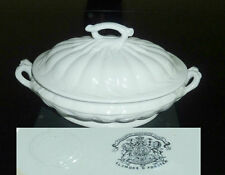 English White IRONSTONE Covered Vegetable Tureen Tunstall   Elsmore & Forster