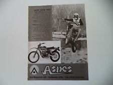 advertising Pubblicità 1976 MOTO ASPES HOPI 125 RGC
