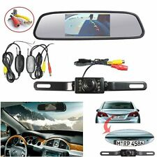 "4.3""TFT LCD Color Car Mirror Monitor+ Wireless Backup Camera for Parking System"
