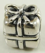 Authentic Pandora Sterling Silver Present Charm Bead Gift Package #790300 ALE