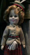 "Marked 12"" Shirley Temple Doll Original Dress, Marked On Back Of Head"