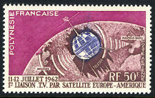 French Polynesia C29, MNH. Telstar satellite, 1962