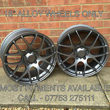 "18"" CSL M3 DTM STYLE CARBON GREY ALLOY WHEELS ONLY BMW 3 SERIES E46"