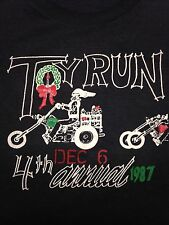 Vintage St. Jude Toy Run 1987 T-Shirt Motorcycle Charity Abate Midsouth