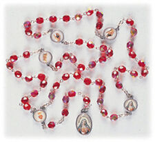 Chaplet Of The Five Wounds Of Mary Crystal Beads Catholic Madonna Prayer
