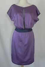 zac posen Cocktail Dress Silk Lavender Drop/Open Back Above knee Size4