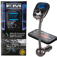 Bluetooth Auto Car FM Transmitter MP3 Player Freisprechanlage USB SD AUX KFZ