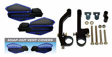 Powermadd Blue/Black Star Snowmobile Handguards & Mount Kit Polaris/Skidoo etc.