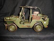 Willys WB 1941 Jeep WWII Tin Model With Machinegun