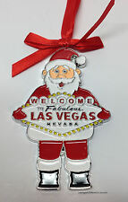 Welcome To Las Vegas Sign Christmas Tree Holiday Hanging Ornament Santa Red