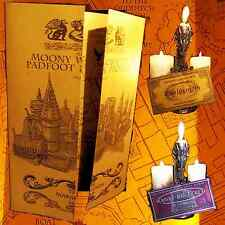 HARRY POTTER-- MARAUDER'S MAP OF HOGWARTS SCHOOL WITH NEW TRAIN & BUS TICKET