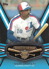 2013 Topps Andre Dawson Montreal Expos 1977 NL Rookie Of The Year Comm Card