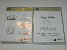 Stampin Up Bring on the Cake Set CLEAR Mount Used Happy Birthday Candles Gift