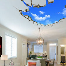 3D Blue Sky Broken Floor Ceiling Mural Removable Wall Stickers Art Vinyl Decals