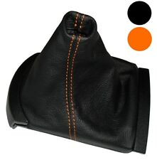 Soufflet de levier vitesse noir CUIR coutures oranges pour Seat Ibiza 2002-2008