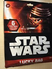 BNIP New Star Wars Lucky Surprise Bag - 6 Items Inside - Puzzles Pencil