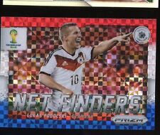 2014 Panini World Cup Prizm Soccer Red, White, Blue Net Finders - LUKAS PODOLSKI