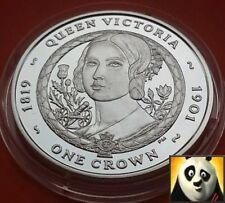 2006 ISLE OF MAN 1 ONE CROWN QUEEN VICTORIA SILVER PROOF COIN