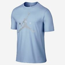 Air Jordan Jumpman T-Shirt 789632-458 Ice Blue Navy White Mens US size Large