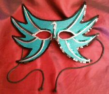 Turquoises Masquerade Mask - Sea Horse and Sequins by Gypsy Renaissance