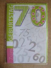 Grußkarte Zum Geburtstag  70 Jahre Aufklappbar  C0100