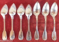cuillères argent massif poincon Vieillard modèle filet contour 573 grammes