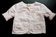 New Authentic Roberto Cavalli Girl's Pink Padded Button Down Sweater (3 Months)