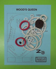 Zaccaria Wood's Queen pinball rubber ring kit