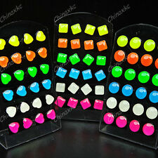 72pc Stainless Steel Colored Smile Fashion Stud Earrings Wholesale Jewelry Lots