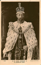 ROYALTY :  H.M.King George V in Coronation Robes  RP-BEAGLES
