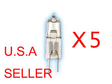 5 Bulbs 12V Volt 50W 50 Watt JC GY6.35 Base Halogen Light Bulbs Clear Bi-Pin