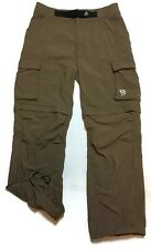 Mountain Hardwear Zip-off Pants Small Cargo Convertible Shorts Nylon Hiking
