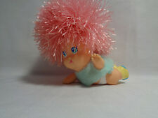 Vintage 1999 Oddzon Koosh Baby Girl Doll Figure Pink Rubber Hair - Rare