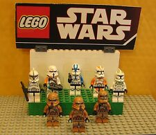 "STAR WARS LEGO LOT  MINIFIGURE--MINI FIG--""  LOT OF 8 TROOPERS--REX--CLONE   """