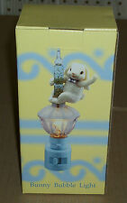 "6.5"" BUNNY BUBBLE LIGHT Easter NIGHTLIGHT Bubbling BLUE Glitter NEW !!!"