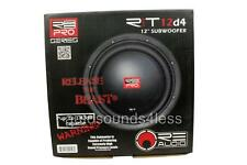 "RE Audio RT PRO 12D4 RT PRO Series 210 Watts 12"" Dual 4 Ohm Car Audio Subwoofer"
