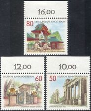 Germany (B) 1986 Gates/Architecture/Elephants/Buildings/Art/Craft 3v set n28087