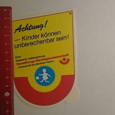 Aufkleber/Sticker: Verwaltungs Berufsgenossenschaft Achtung Kinder (041216108)