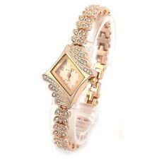 Womens Girls Bangle Watches Crystal Quartz Rhombus Bracelet Wrist watch