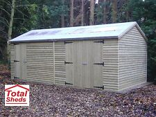 20 x 10 22mm TANALISED LOGLAP HEAVY DUTY LOGCABIN SHED TOP QUALITY TIMBER