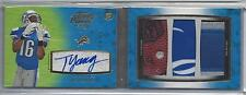 TITUS YOUNG 2011 TOPPS PRIME LEVEL V (5) TRIPLE PATCH AUTO BOOK RC TRUE #D 1/1