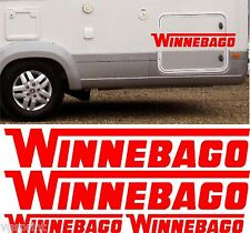 WINNEBAGO MOTORHOME 4 PIECE KIT DECALS STICKERS CHOICE OF COLOURS & SIZES