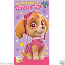 "OFFICIAL PAW PATROL"" DAUGHTER"" BIRTHDAY/GREETINGS CARD ***FREE 1ST CLASS P&P***"