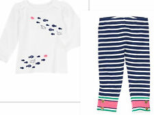 GYMBOREE STRIPES AND ANCHOR OUTFIT NWT   5T-