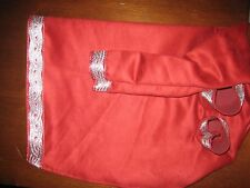 Uilleann bag cover Red Microsuede red/silver celtic weave trim