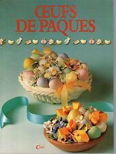 OEUFS DE PAQUES CELIV DECORATION POCHOIR CERAMIQUE PATE A SEL CIRE TISSU PAPIER